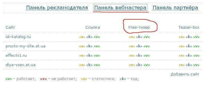 бесплатная рекламма для сайта